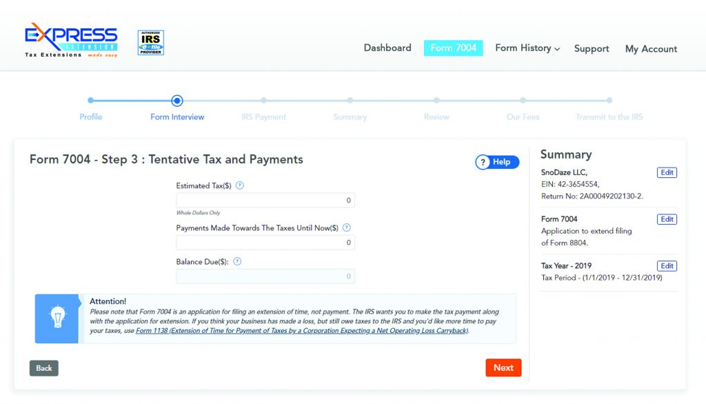How To File Your Extension Form 7004? 3