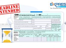 Form 1040 Deadline Extended